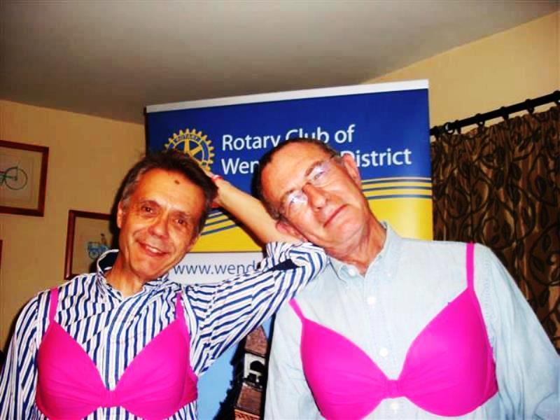 BUST -  help women in the 3rd world and breast cancer research. - The men were not going to be outdone!!