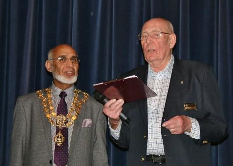 President Mike Child and Cllr Mohammed Hanif, Mayor of High Wycombe