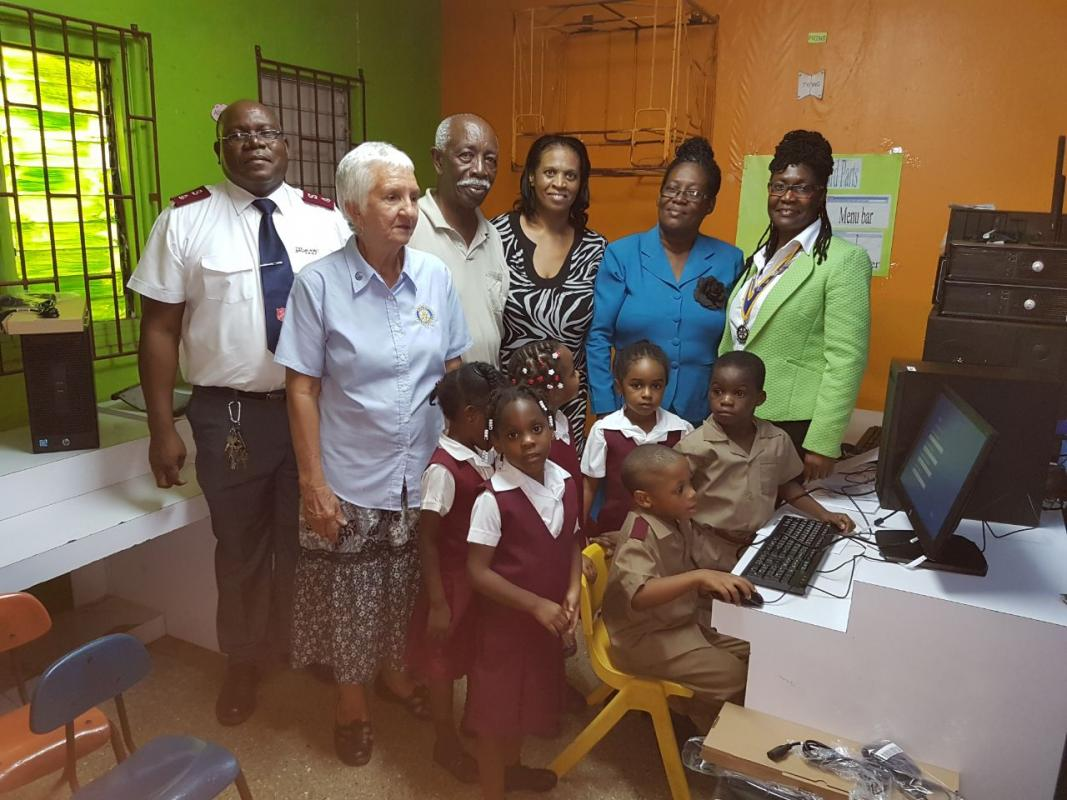 Five brand new desktop computers were handed over to the school on Thursday, January 26, 2018 by the Rotary Club of Montego Bay.
