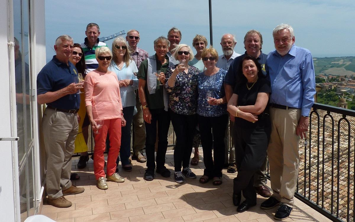 May 2017 4day Visit to Fermo Rotary Club, Italy -