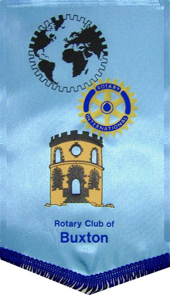 Rotary Club of Buxton Banner - Existing Club Banner featuring Solomon's Temple