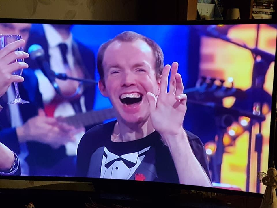 Lost Voice Guy appeared on Channel4's The Last Leg on New Year's Eve.