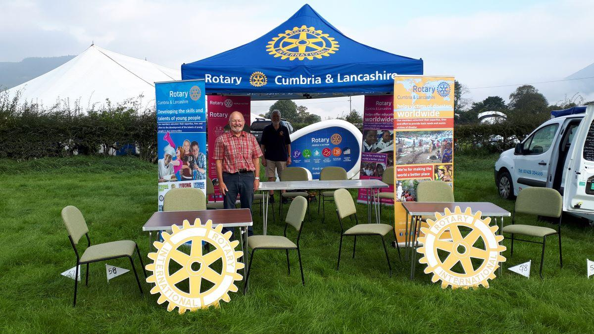 Community Service and Fund Raising - President Neil Beresford ready for action at Keswick Show during August Bank Holiday