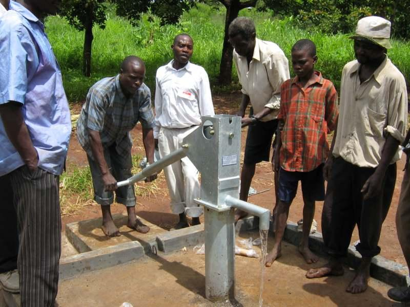 New Well which we funded in Malawi