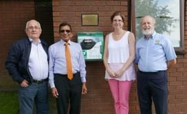 New Longton Defibrillator 2016 - Presentation at New Longton Surgery of Defibrillator