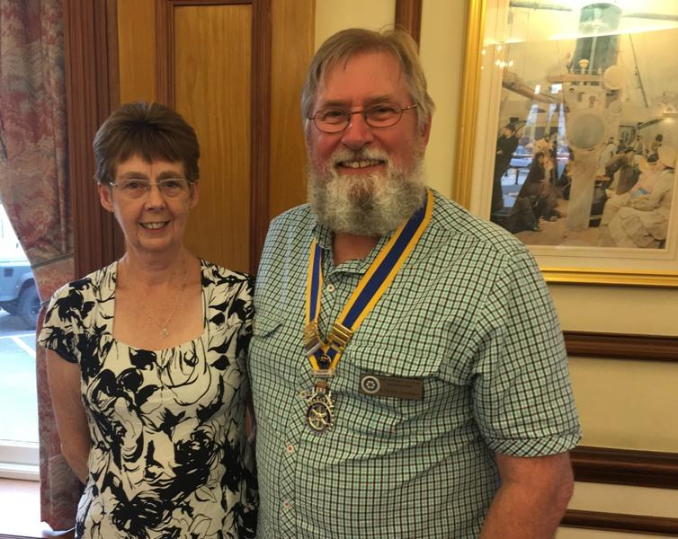 Steve Hardy takes over the Club Presidency from Retiring President Mary Wallace