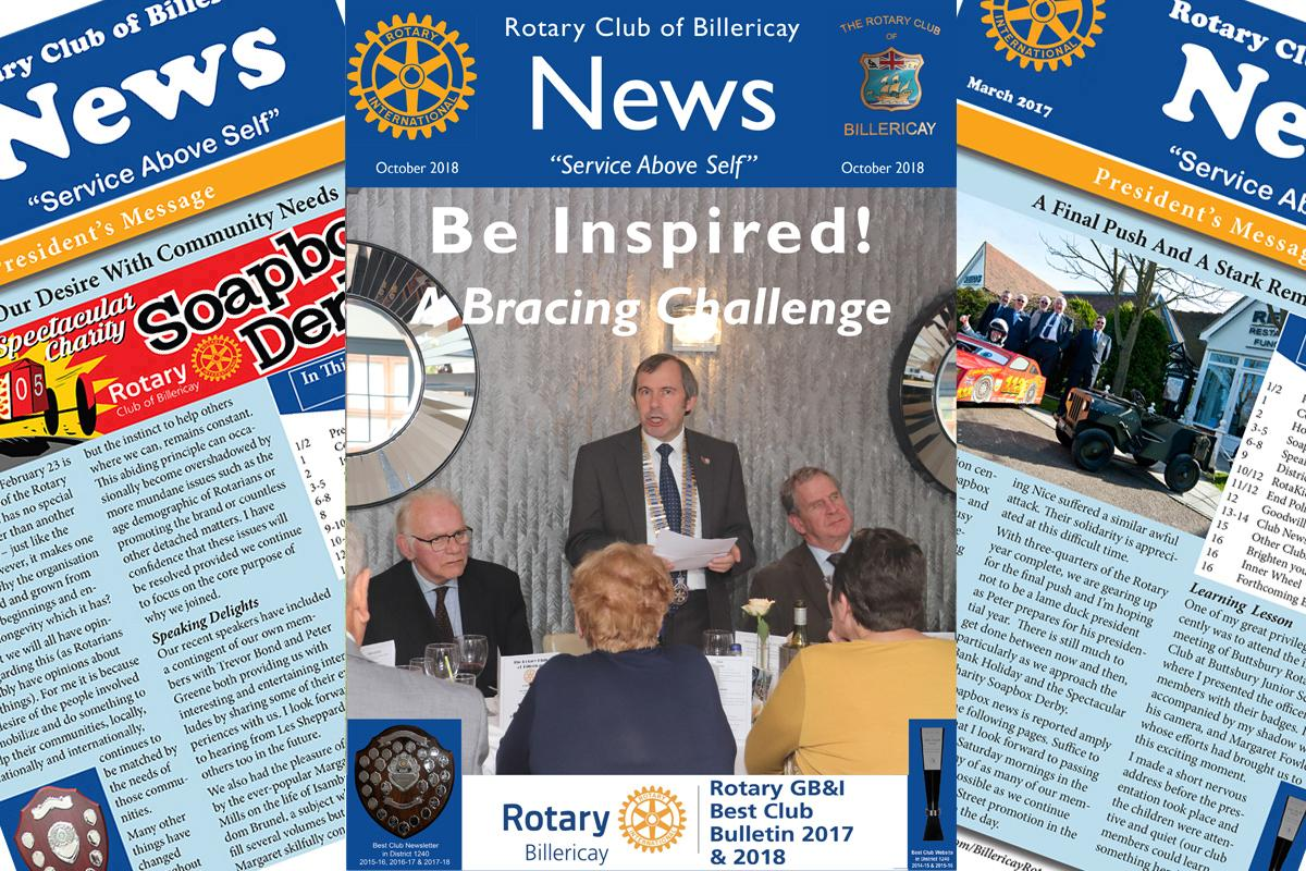 Rotary Billericay October Club Newsltter