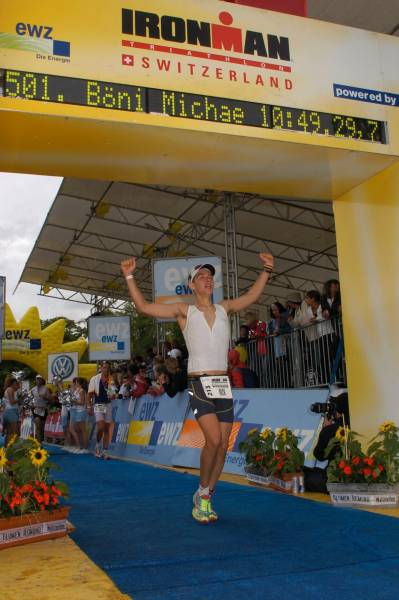 Ironman Switzerland 2008 - At the finish line racing as an amateur before becoming a Professional