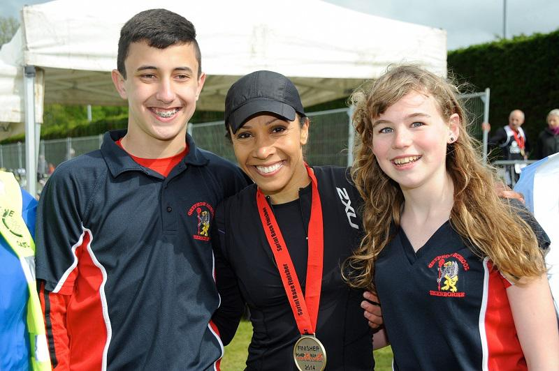 Our 2014 Olympic Bursary Winners with Kelly Holmes in Sherborne