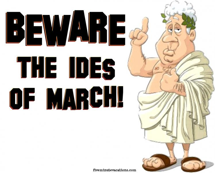 """The Ides of March"""" """""""" anecdotes, quotes and jokes of the dark humour and  black comedy kind. - Chelwood Bridge Rotary"""