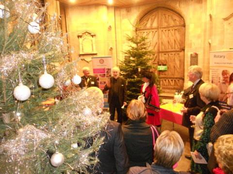 Norwich Christmas Tree Festival - Dec 2014 - Festival Opened by the Lord Mayor