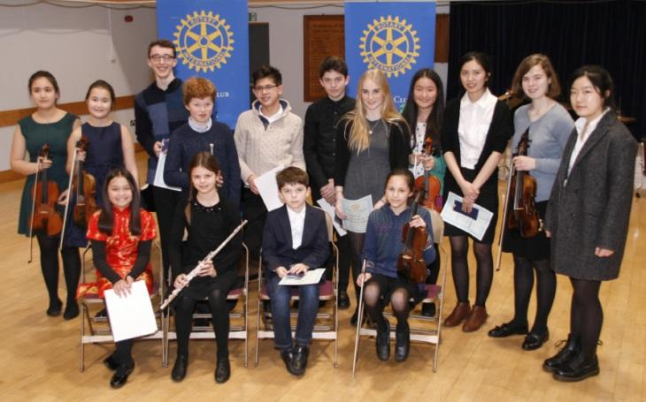 Apr 2019 Rotary Young Musician Regional Final at St Faiths School -