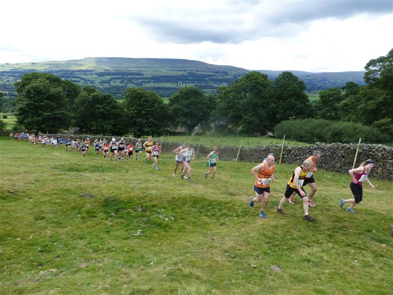 Runners on first hill