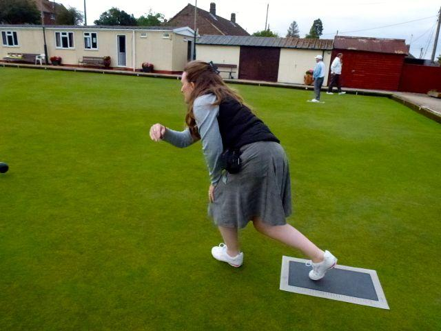 Fellowship Evening - Bowls v RWB Bowls Club - Ceri turned out to be a star bowler