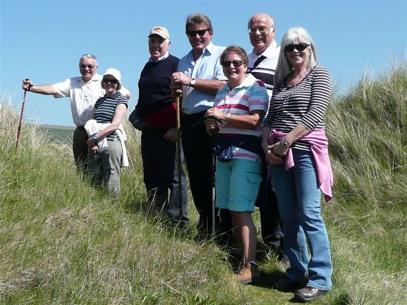 PHIL'S WALK ROUND SAUNTON GOLF COURSE (without Phil!) Sunday 19th April -
