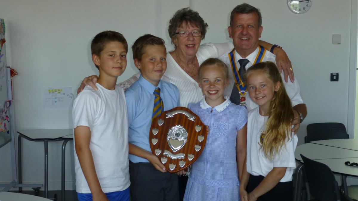 President Mark and Joyce pictured with victorious winners