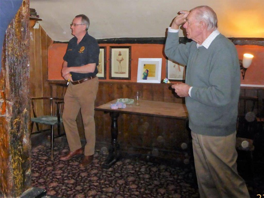 Result of Darts Final Held at Ampfield on Monday 22 May 2017  -