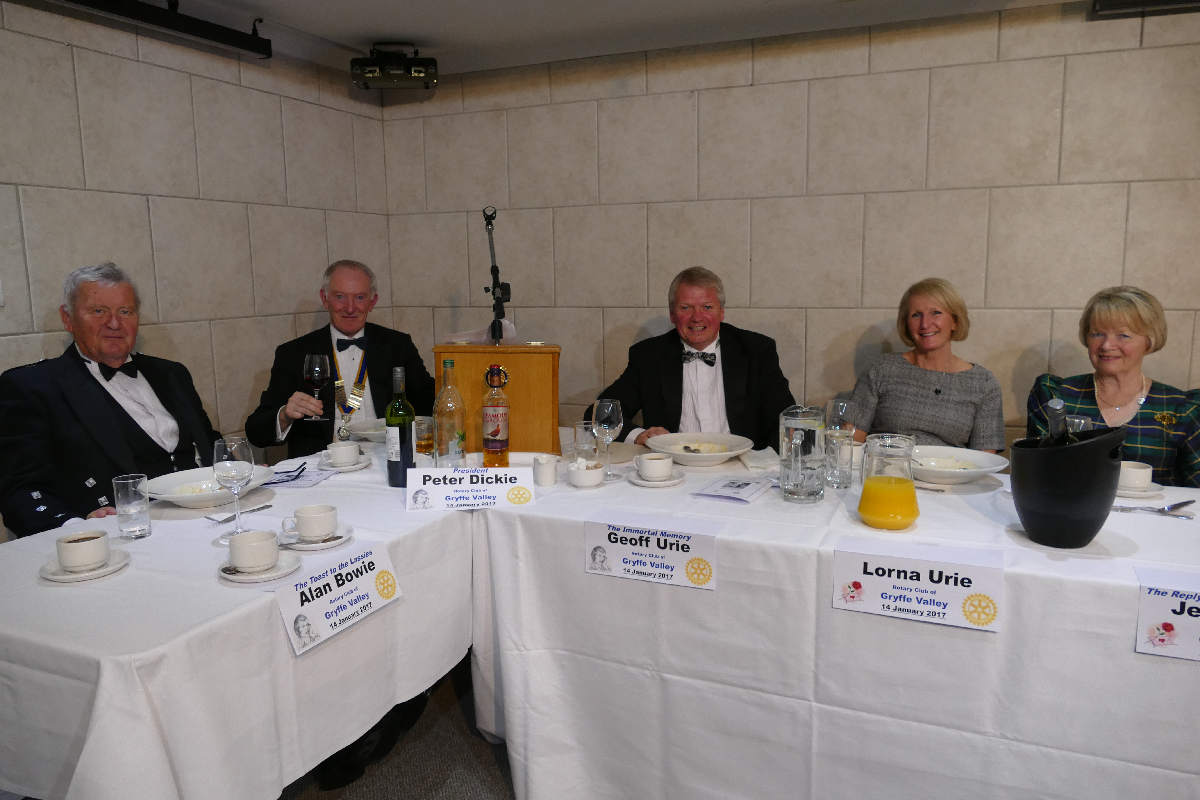 President Peter Dickie and the Top Table