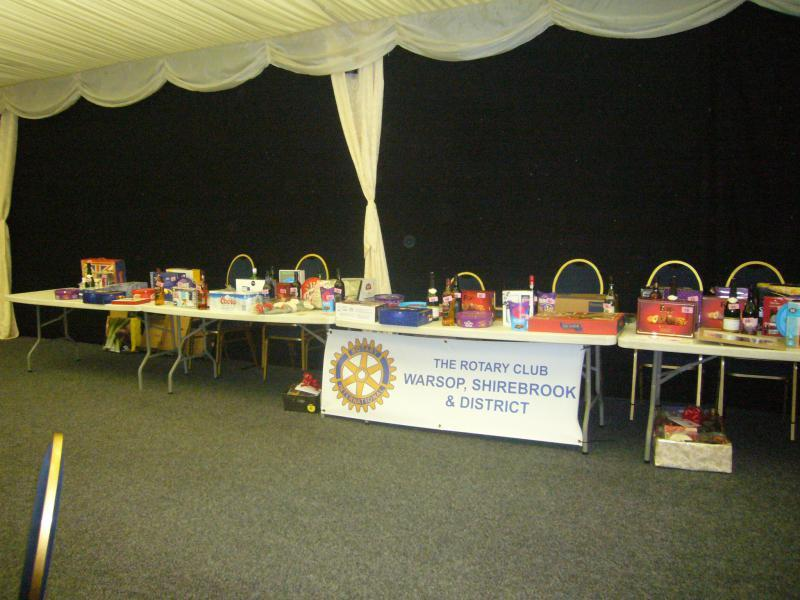 Rotary Christmas Prize Draw - The 140 prizes are laid out prior to the draw