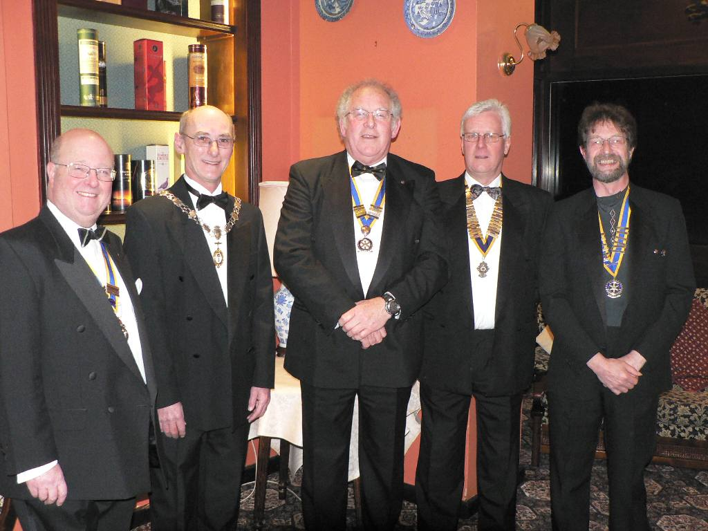 Ramsey Charter Night 2008 - L - R President Bill, George Skillicorn, Peter Hooson-Owen, R Hethrington, M Percival