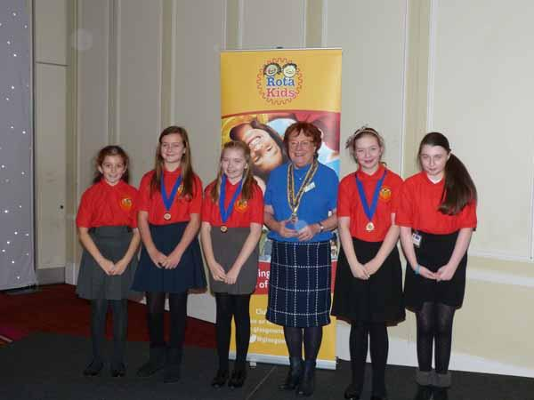RotaKids Conference - 8th December  - President Morag and the Rotakids Presidents