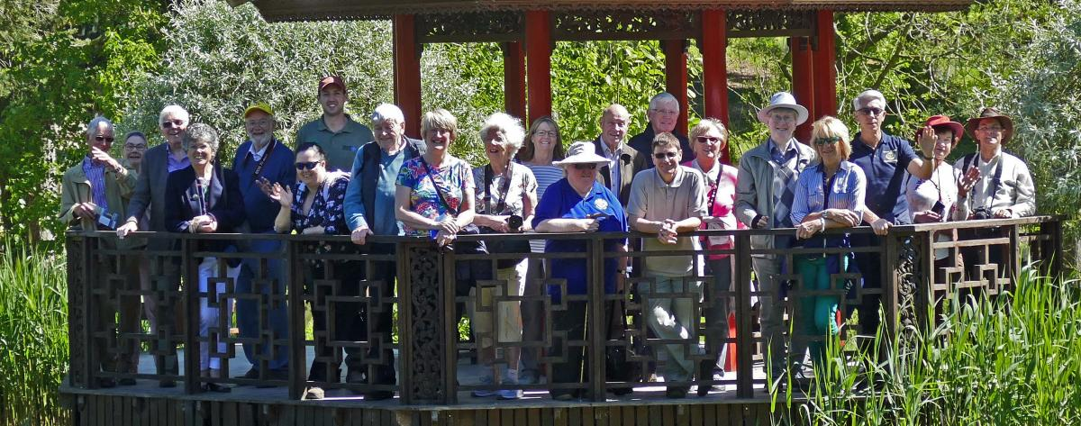 President's Day Out - Rotarians and partners at the Himalayan Gardens