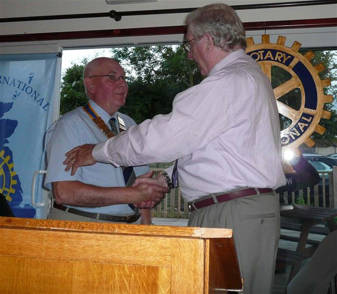 Change-over of Presidents 2010 /2011 - President Mike Gaffney is inducted by outgoing President Reg Hamer