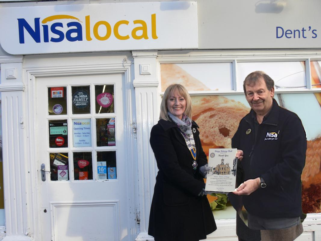 Brigg Rotary says  - NISA - Dents of Brigg. Massive THANKS to Dave Dent
