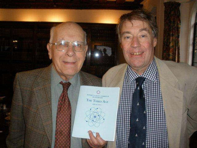 Author John Dickins with President Richard Crabtree