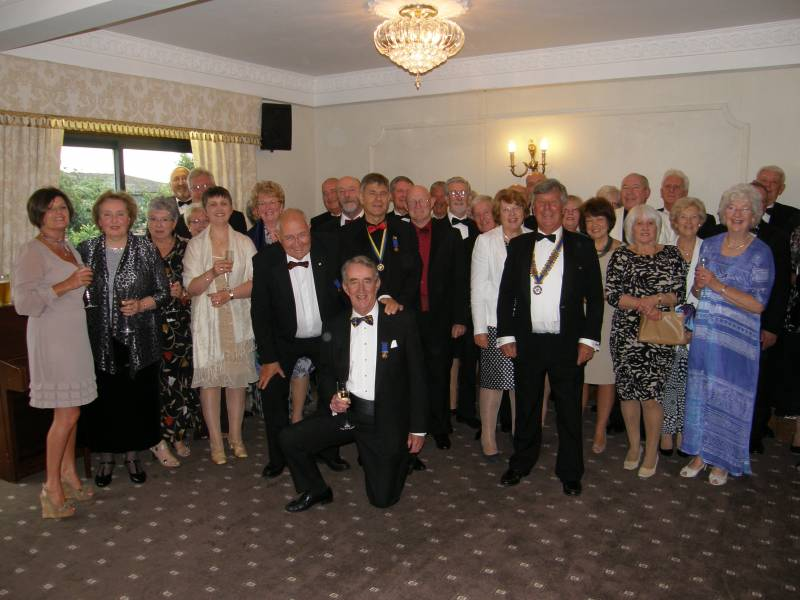President's Night - June 2012 - Members of the Rotary Club of Northwich Vale Royal at President's Night Willington Hall Hotel on Friday June 22nd 2012.