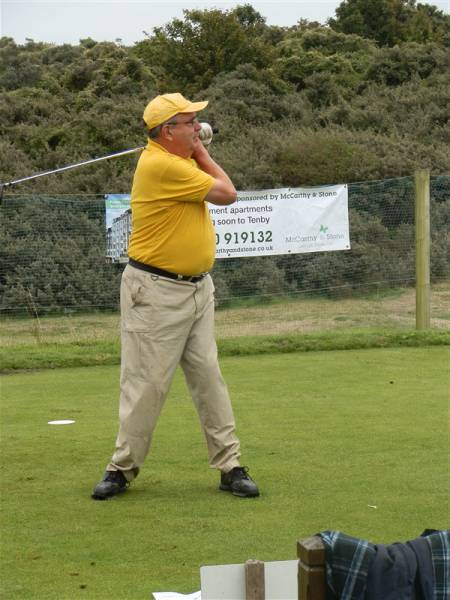 Charity Golf Day 2013 - President Neil Smith of the Rotary Club of Burnham Beeches drives off the first Tee