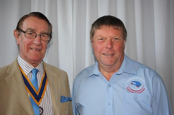 PDG Nigel Danby and President Hedley