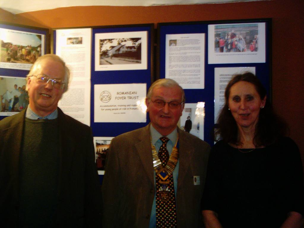Romanian Foyer Trust - Martin & Karen Fairfax with Keith Tattersfield (m)