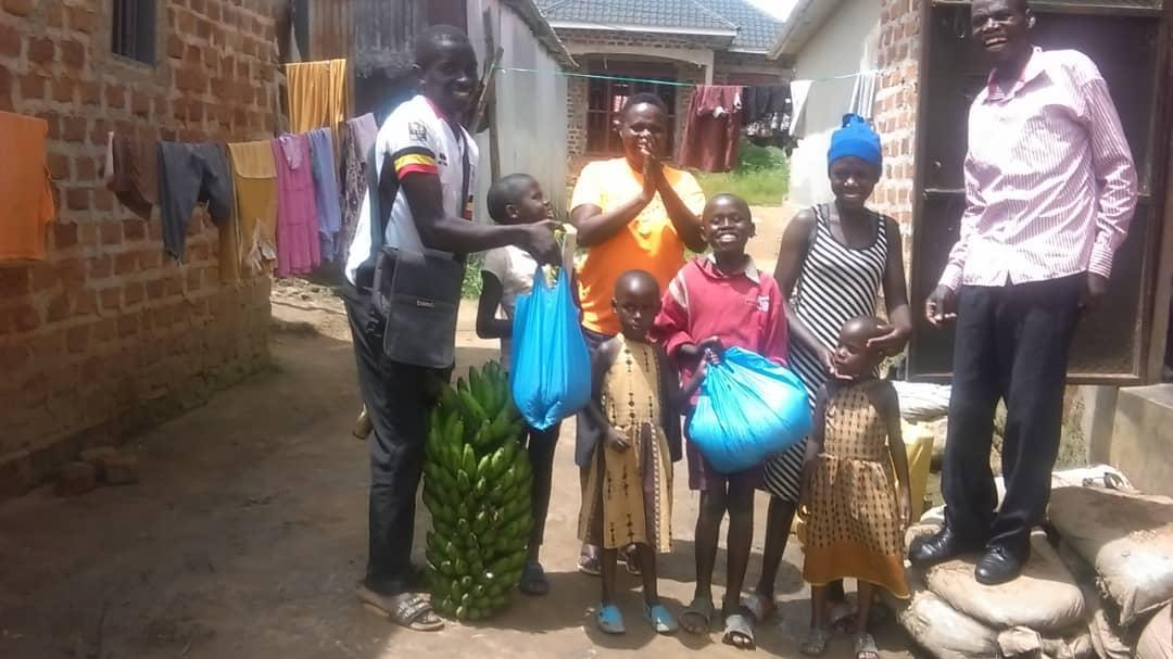 Uganda support - One family receiving food aid