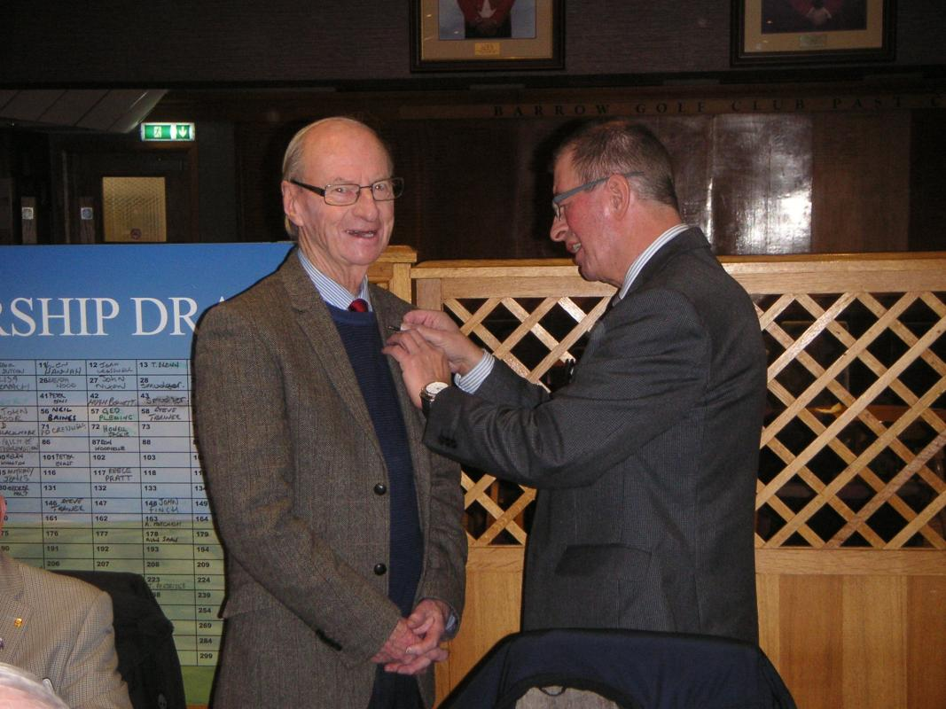 John Calvert inducted into our club