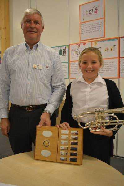 Event winner Abby Strachan with Vocational and Youth convenor John Whitfield.