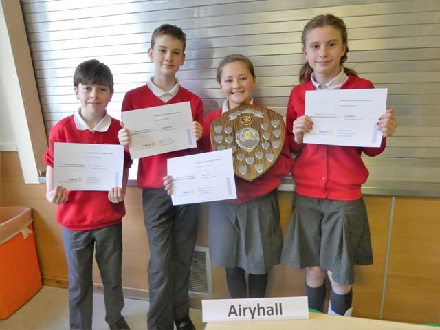 The winning team Airyhall Primary School