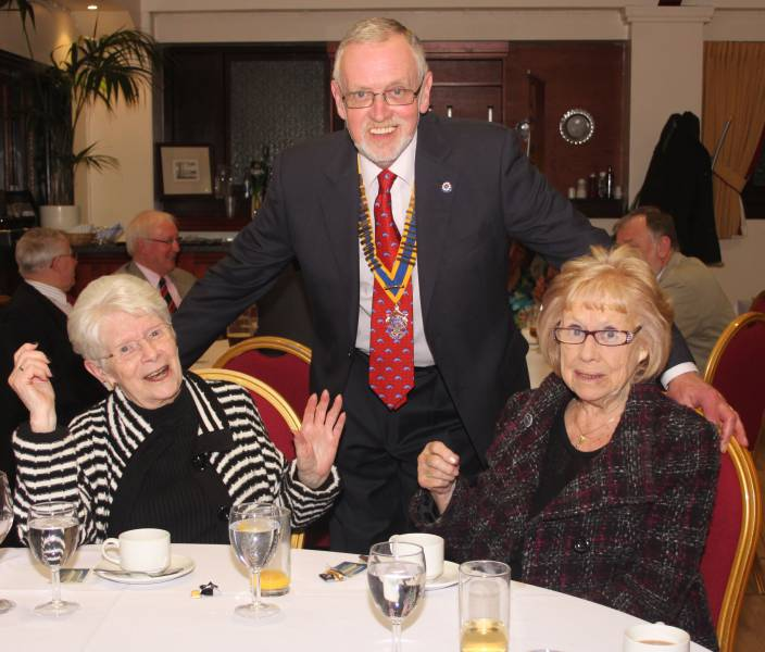President Norman with guests Pam Storrie and Marjorie Ward.