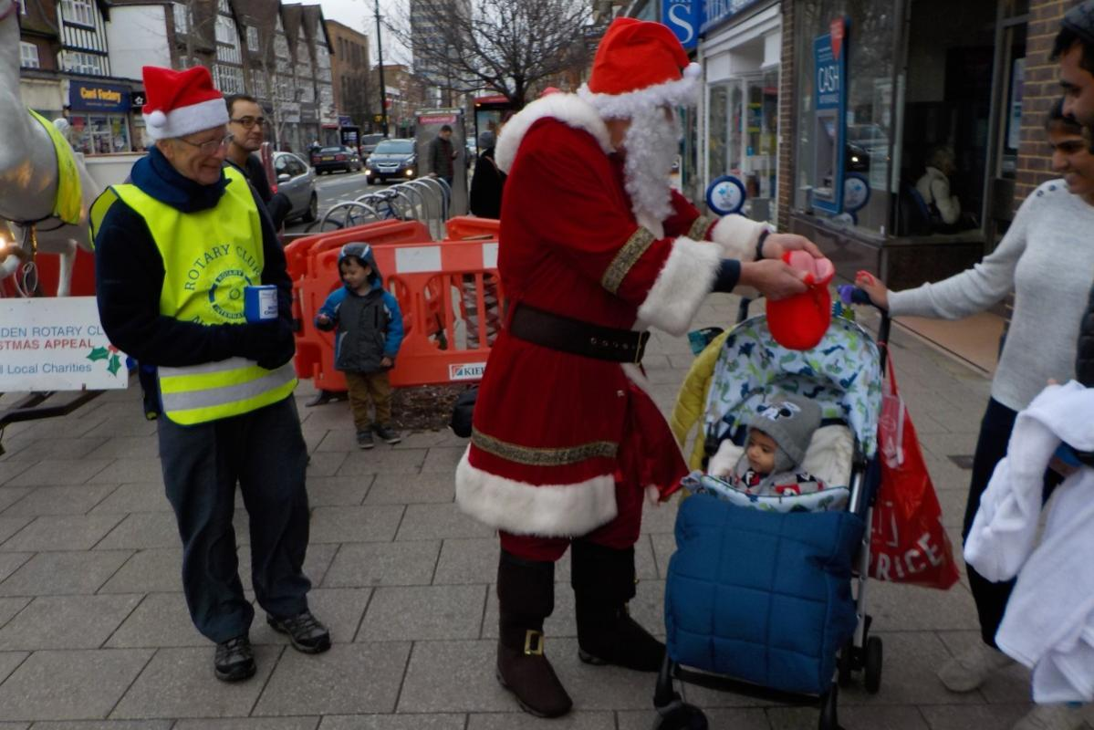 Saturday fund raising by Father Christmas