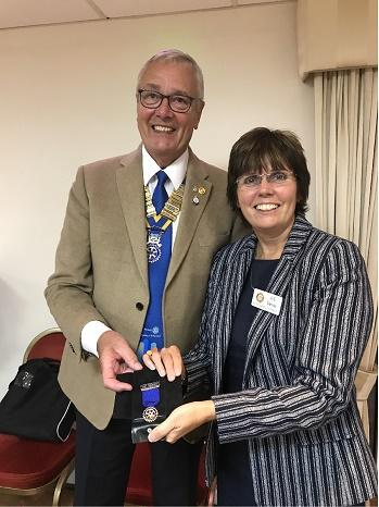 Member Awards & Presentations - Past President Sue receiving her Past President award.