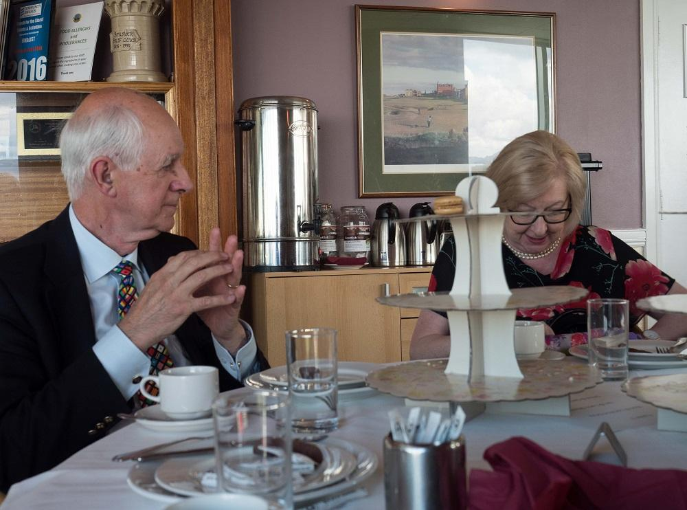 Afternoon Tea at Gourock Golf Club - AG and President of Kilmarnock Rotary, Iain Shaw joined the group with his wife, Lynn/