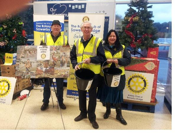 Rotarians at Tesco Sowerby Bridge