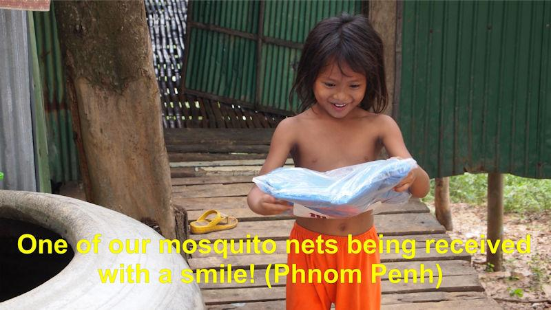 International Service - Gratitude for our mosquito net