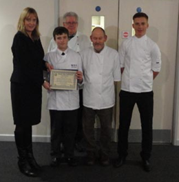 Young chefs are congratulated