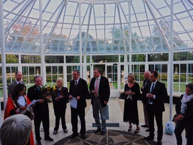 Members in conservatory