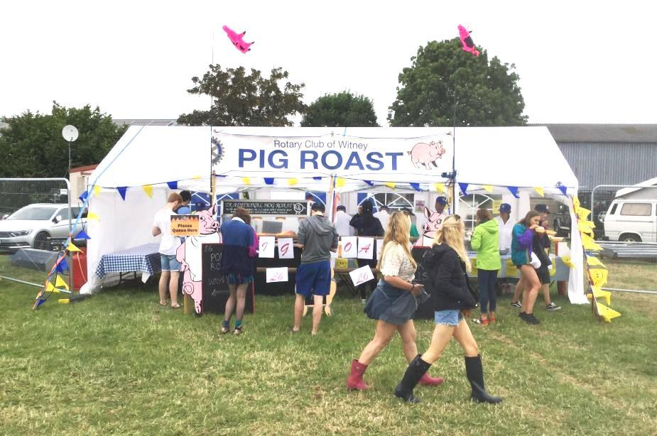Witney Rotary Club Pig Roast hits the Festival scene