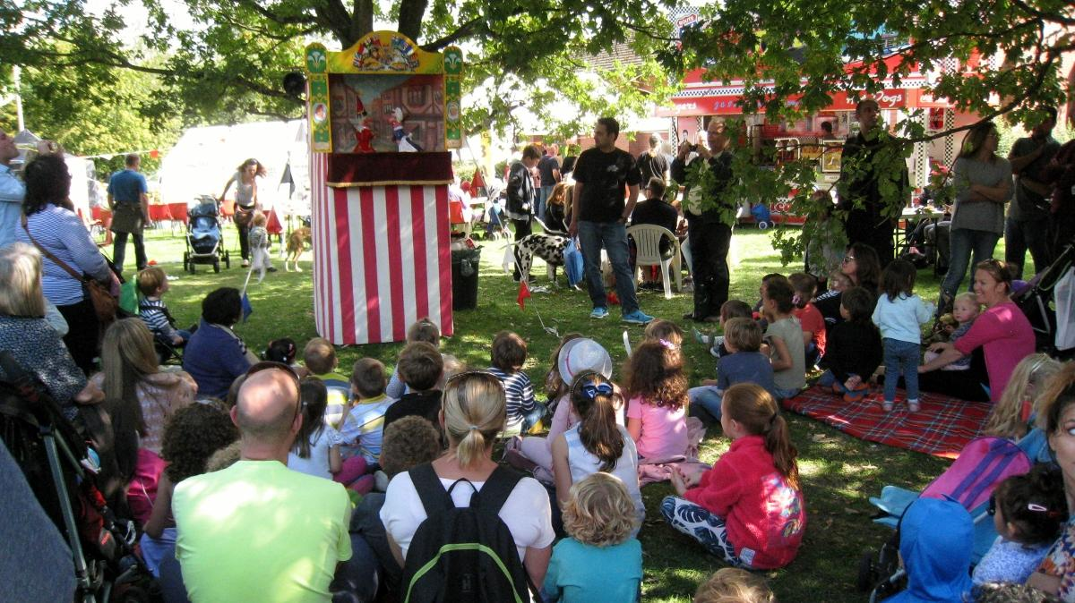 Punch and Judy, one of the many attractions at Pinner Village Show