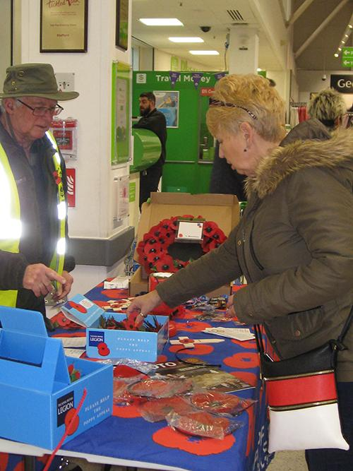 Presidents from the three Stafford Clubs on Remembrance Day