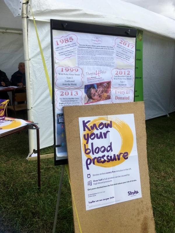 Blood Pressure Screening at Wensleydale Show 2018 -
