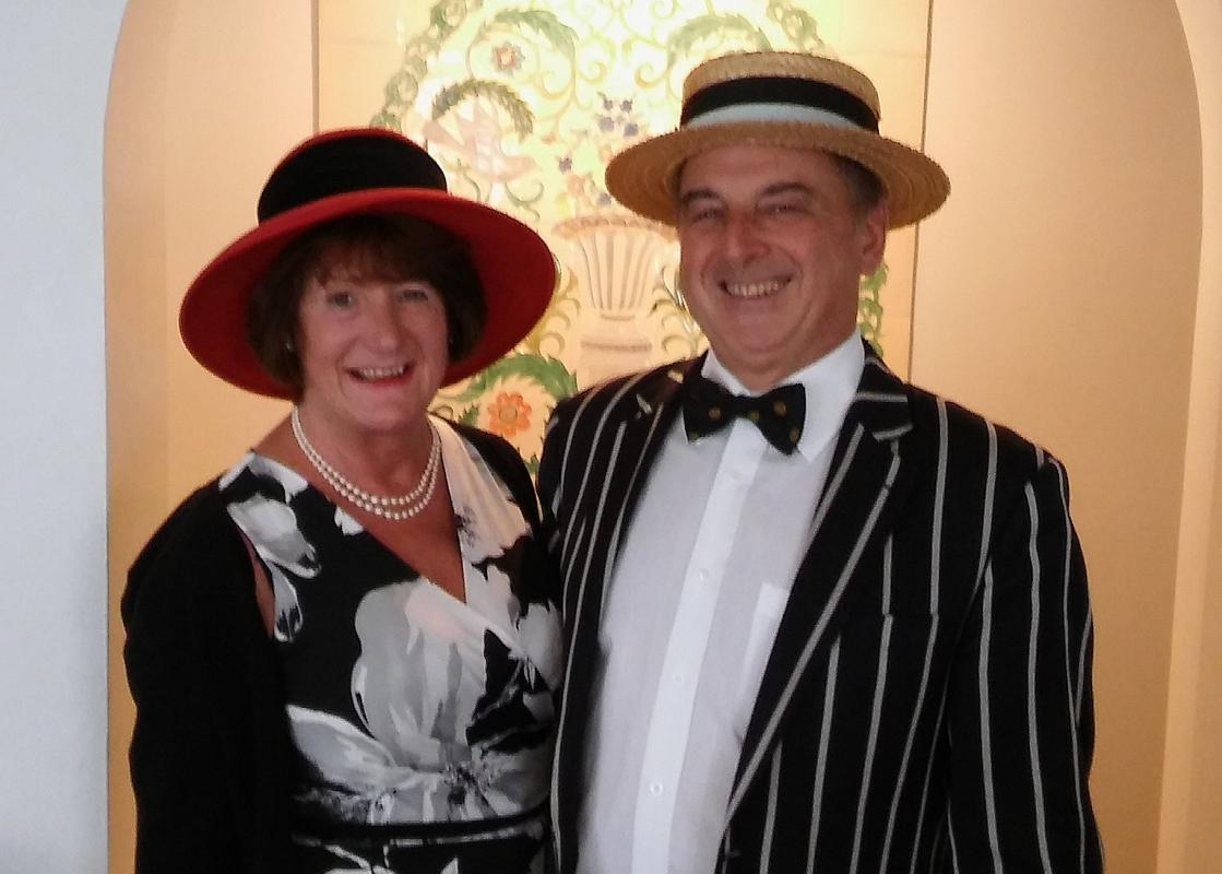 Our super-smart President Norman and his lovely wife Janet attended the Mawdoch charter - a day at the races